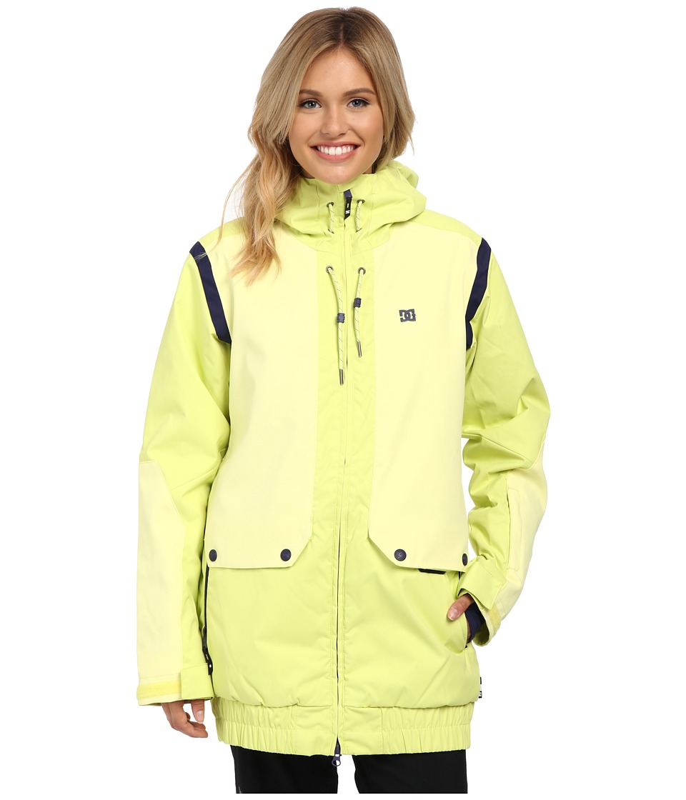 DC - Riji J Snow Jacket (Sunny Lime) Women's Coat