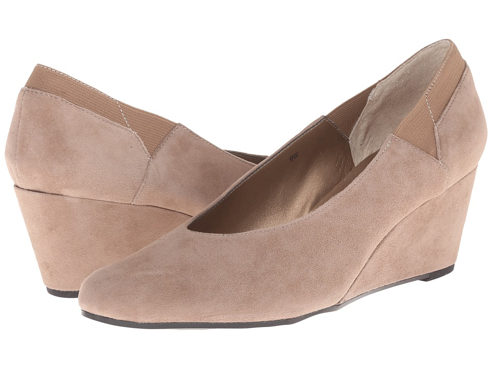 Womens Shoes Vaneli Darcy Truffle Suede/Matching Elastic