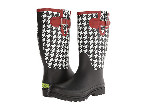 Western Chief - Houndstooth Shaft Boot (Black) Women