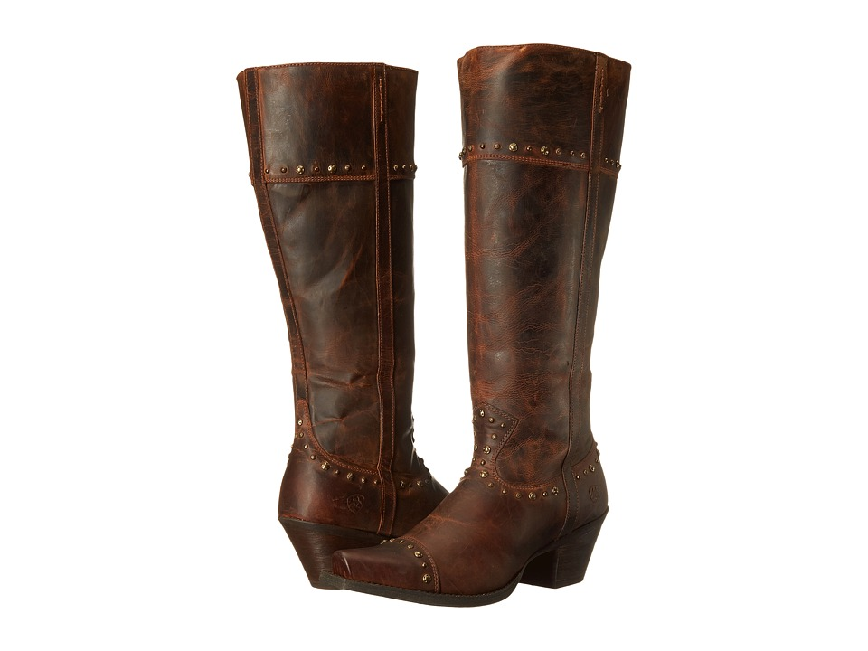 Ariat Marvel Wide Calf (Sassy Brown) Cowboy Boots
