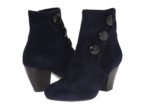 Vaneli - Jessy (Navy Suede/Matching Mop Buttons) Women's Boots