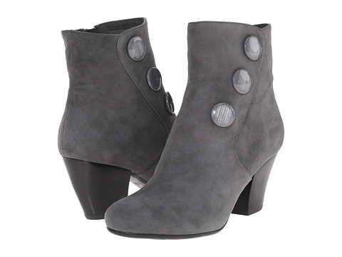 Vaneli - Jessy (Grey Suede/Matching Mop Buttons) Women's Boots