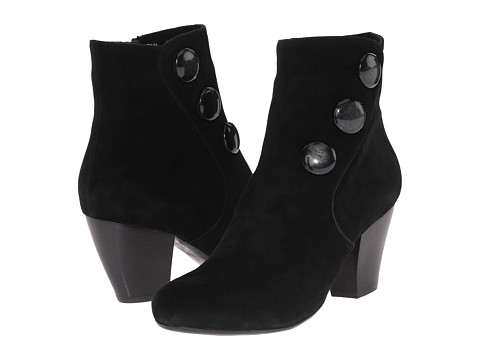 Vaneli - Jessy (Black Suede/Matching Mop Buttons) Women's Boots