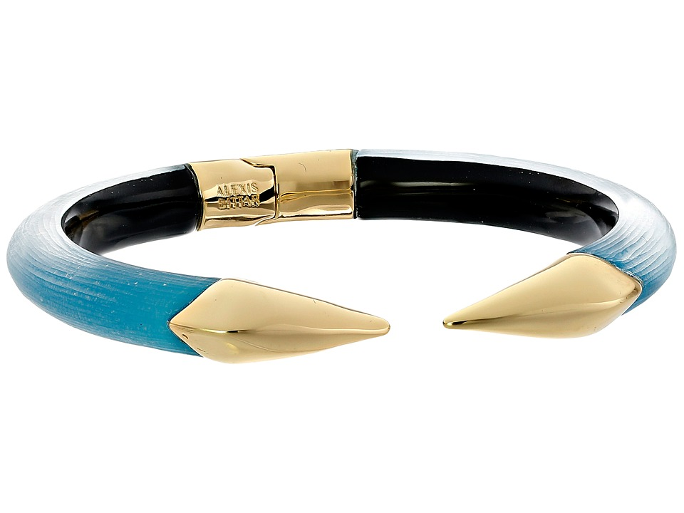 Alexis Bittar - Mirrored Pyramid Brake Hinge Bracelet (Royal Blue) Bracelet