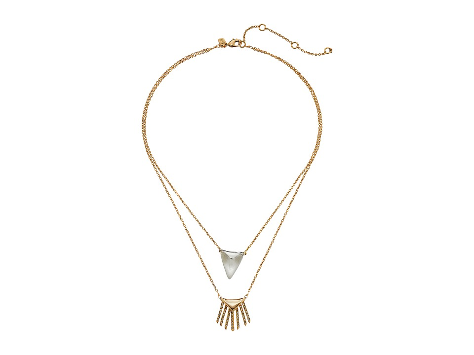 Alexis Bittar - Double Fringe Pendant Necklace (Silver) Necklace