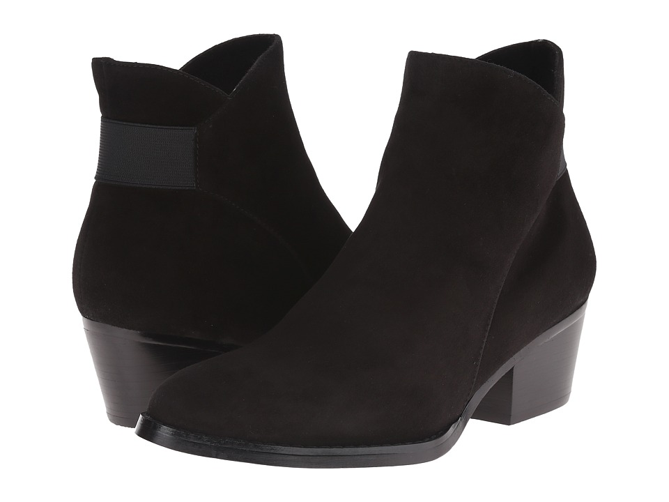 Vaneli - Reagan (Black Suede/Matching Elastic) Women's Pull-on Boots