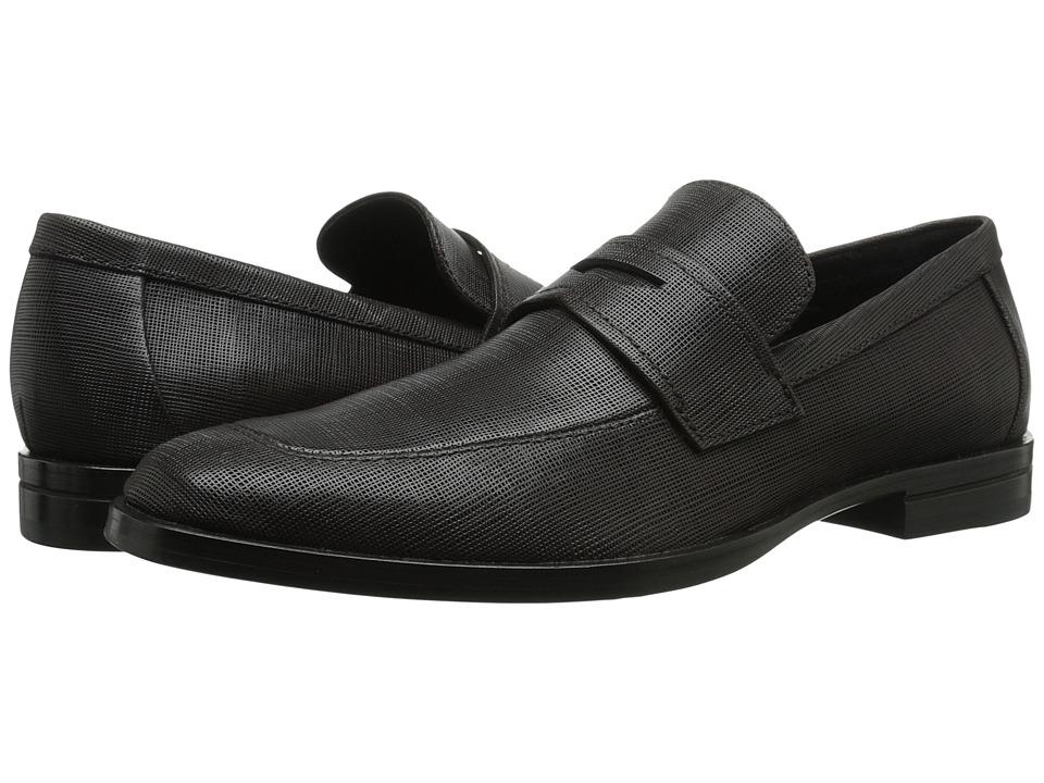 Calvin Klein Karl (Dark Brown Textured Leather) Men