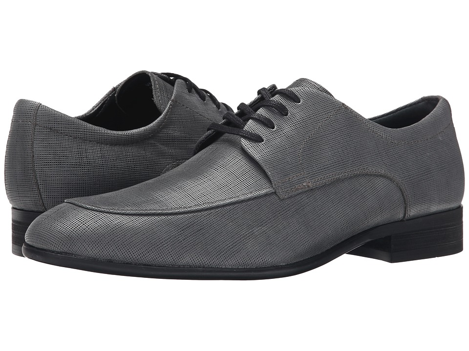 Calvin Klein Valient (Dark Grey Textured Leather) Men
