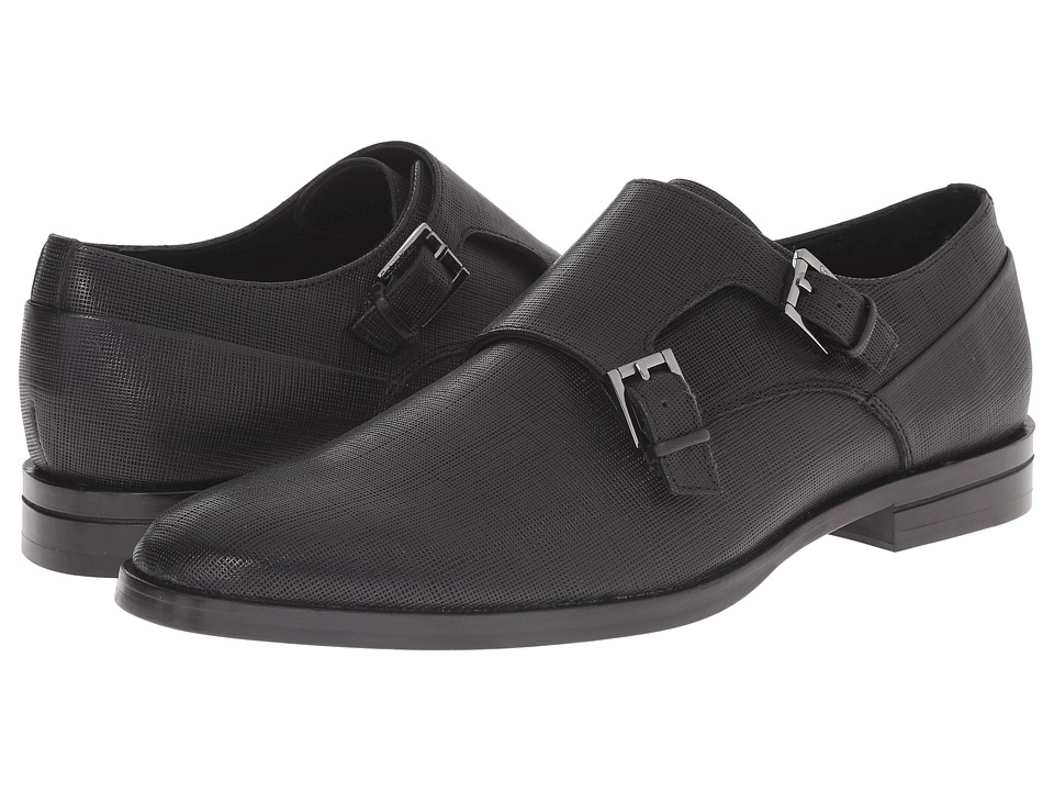 Calvin Klein - Kason (Black Textured Leather) Men