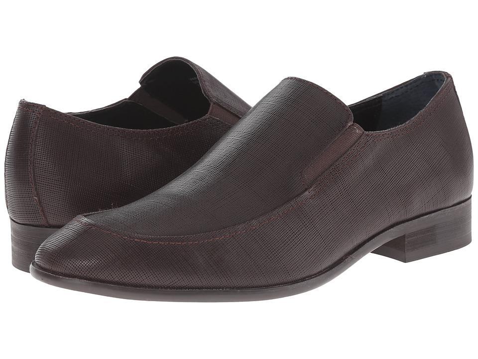 Calvin Klein Varro (Dark Brown Textured Leather) Men