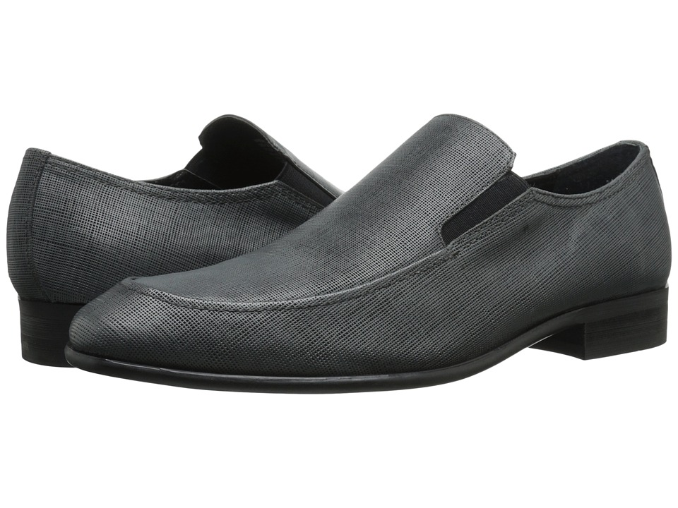 Calvin Klein Varro (Dark Grey Textured Leather) Men