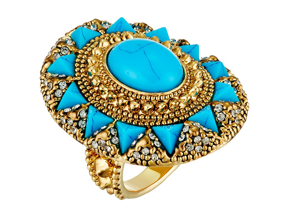 House of Harlow 1960 - Wari Runis Cocktail Ring (Lapis) Ring