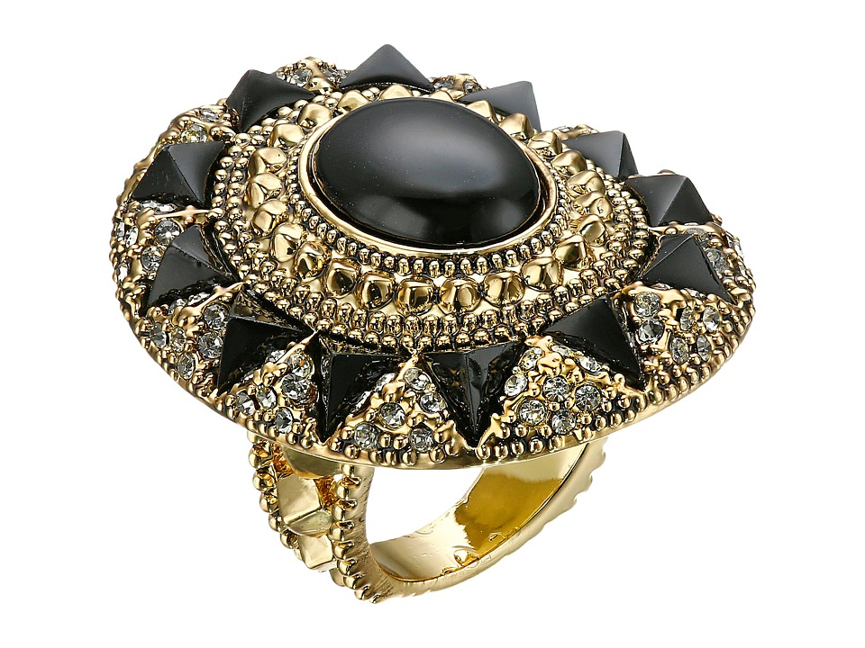 House of Harlow 1960 - Wari Runis Cocktail Ring (Black) Ring
