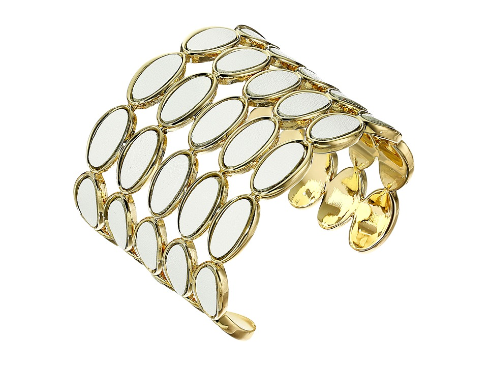House of Harlow 1960 - Del Sol Leather Cuff Bracelet (White) Bracelet