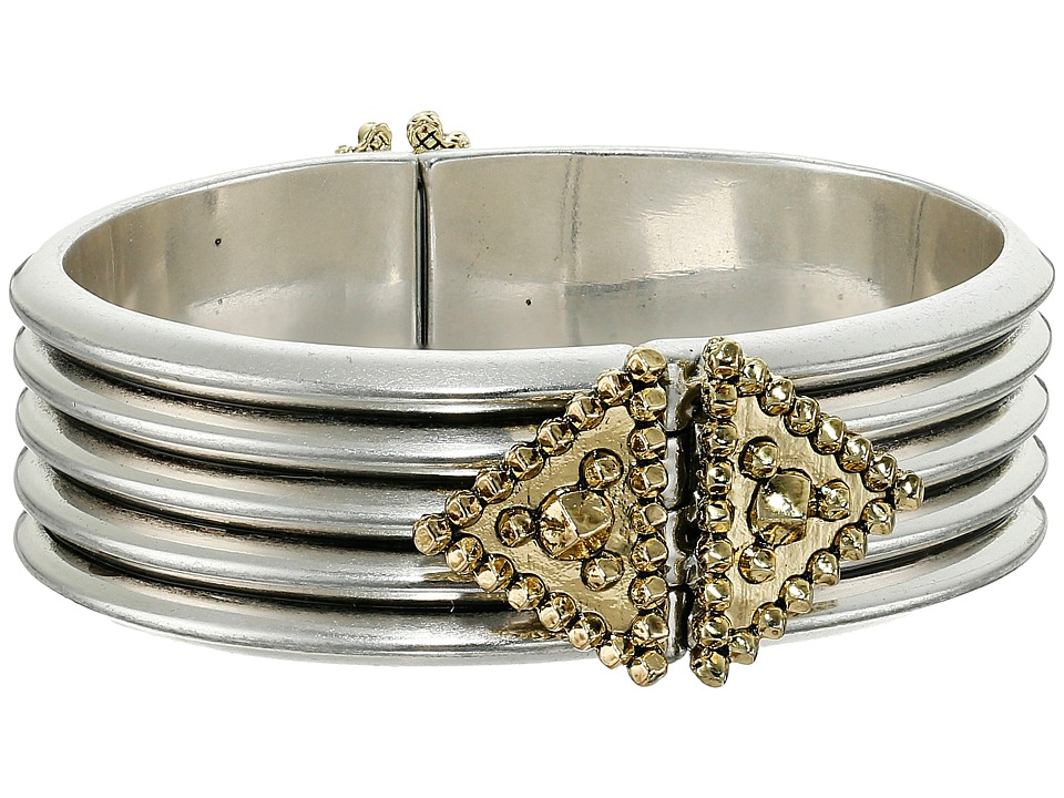 House of Harlow 1960 - Central Highlands Reflection Cuff Bracelet (Silver) Bracelet