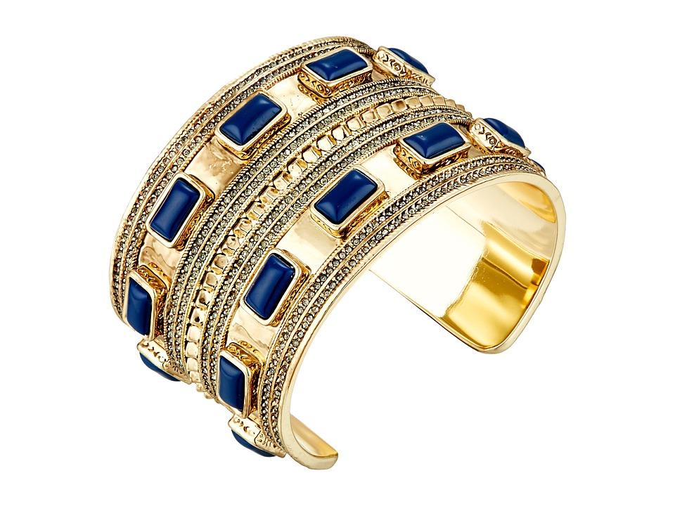 House of Harlow 1960 - Ananta Statement Cuff Bracelet (Lapis) Bracelet