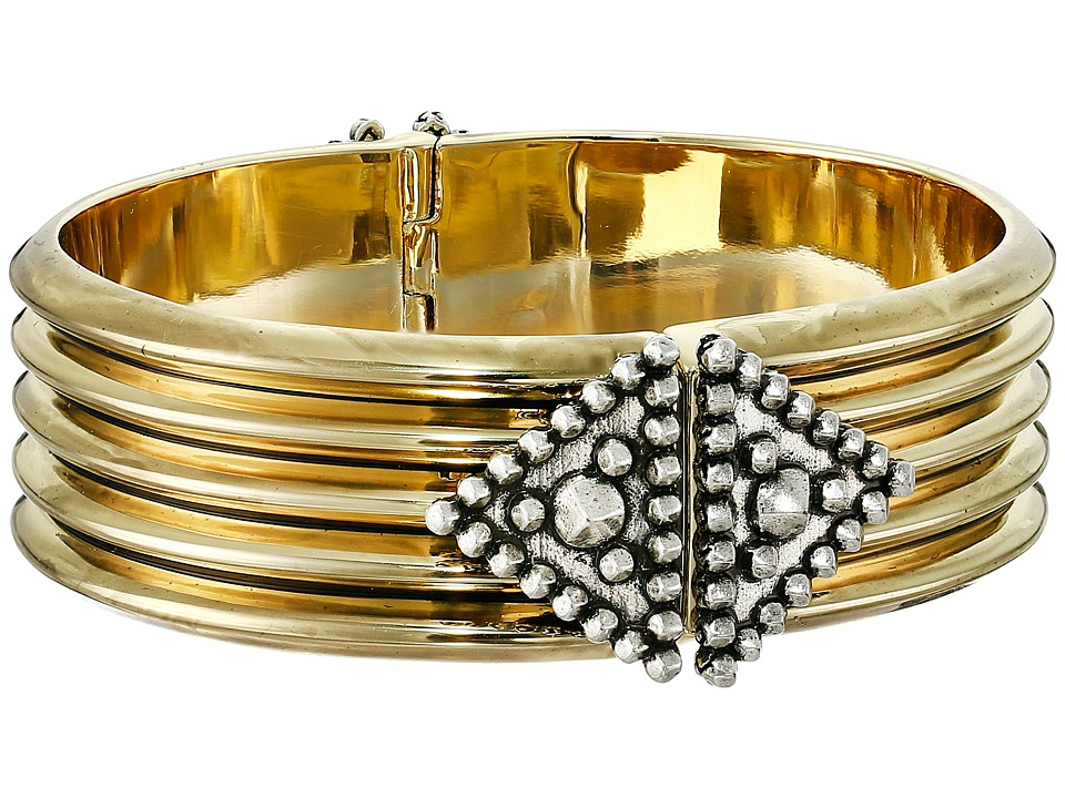 House of Harlow 1960 - Central Highlands Reflection Cuff Bracelet (Gold) Bracelet