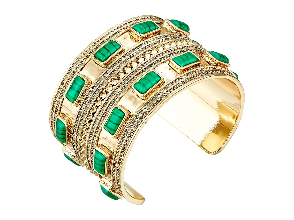 House of Harlow 1960 - Ananta Statement Cuff Bracelet (Malachite) Bracelet