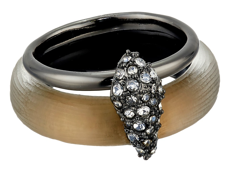 Alexis Bittar - Crystal Encrusted Movable Band Ring (Warm Grey) Ring