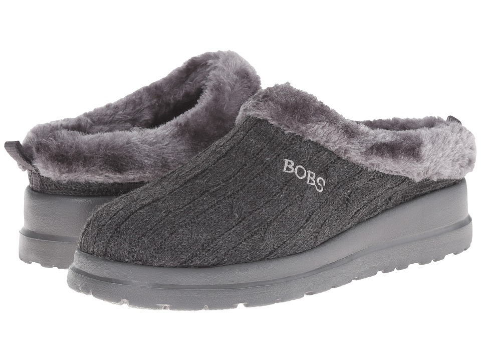 BOBS from SKECHERS - Cherish - Wonder (Charcoal) Women's Slip on Shoes