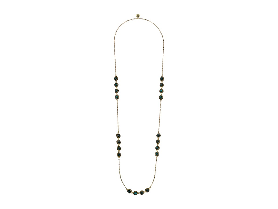 House of Harlow 1960 - Cuzco Station Necklace (Malachite) Necklace