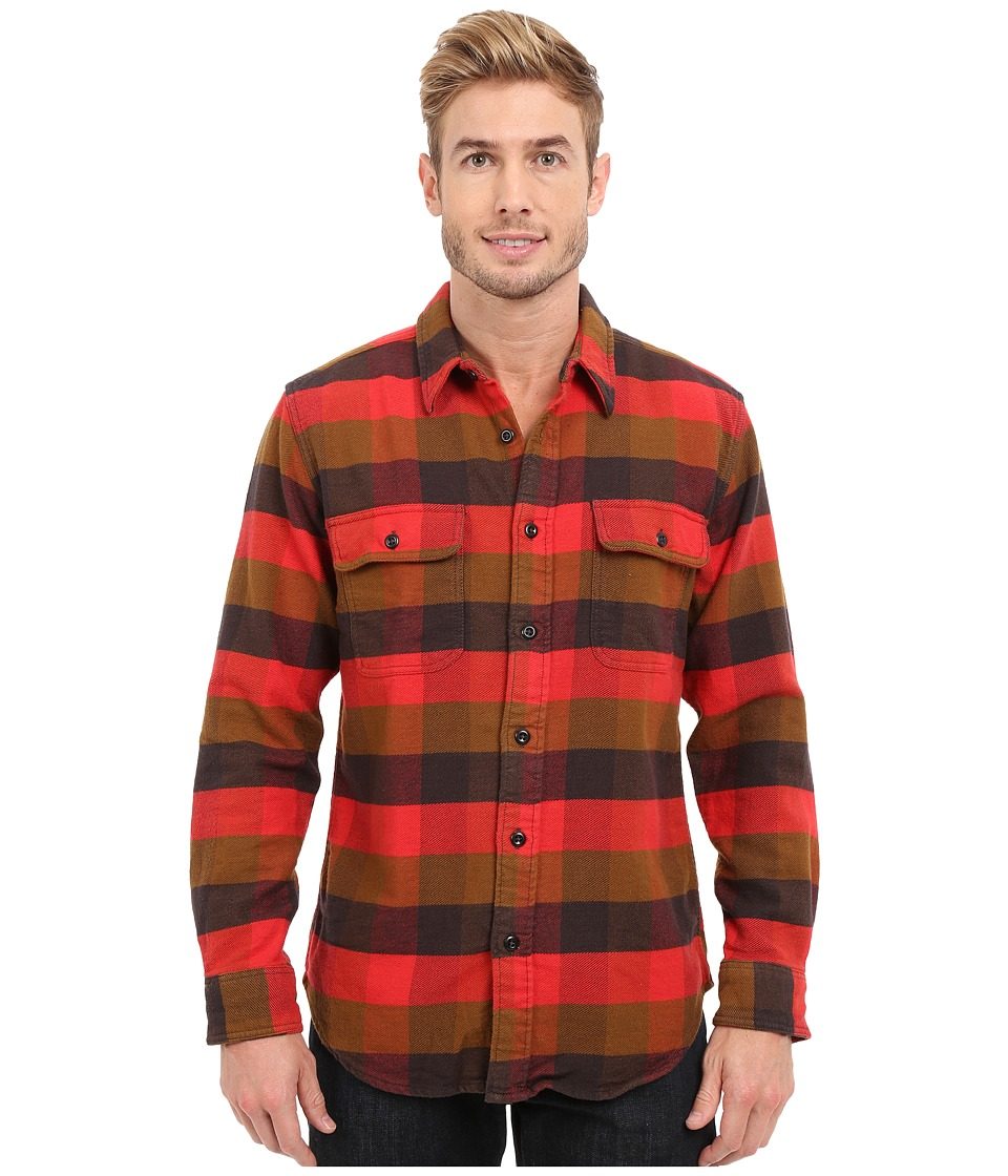 Filson - Vintage Flannel Work Shirt (Red Mackinaw Buffalo) Men's Clothing