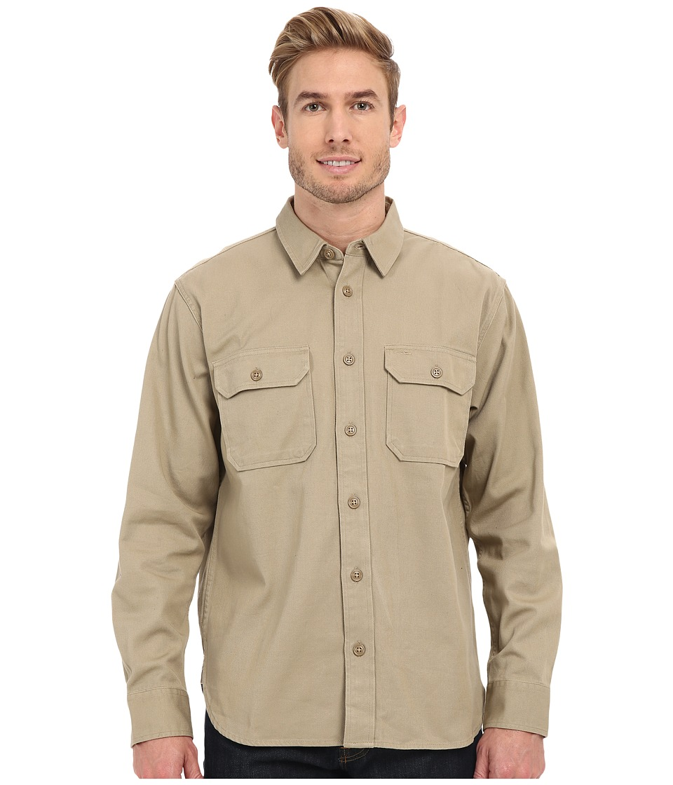 Filson - Chino Shirt (Khaki) Men's Long Sleeve Button Up