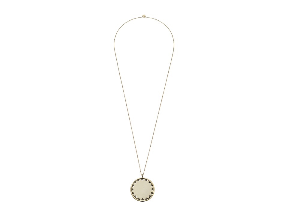 House of Harlow 1960 - Incan Long Sun Coin Necklace (Gold) Necklace