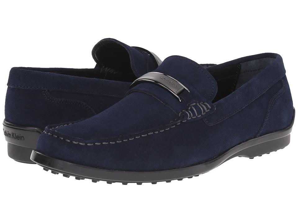 Calvin Klein - Keeran (Dark Navy Suede) Men's Slip on Shoes