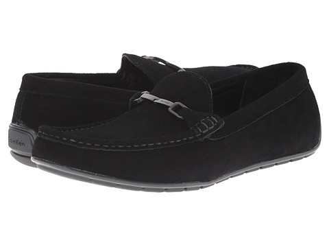 Calvin Klein - Isley (Black Suede) Men's Slip on Shoes