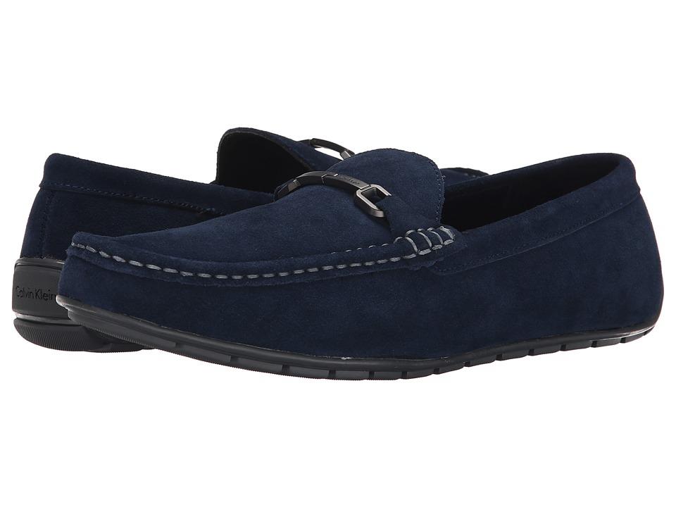 Calvin Klein - Isley (Dark Navy Suede) Men's Slip on Shoes