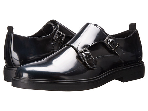 Calvin Klein - Damire (Navy Brush-Off Smooth) Men's Monkstrap Shoes