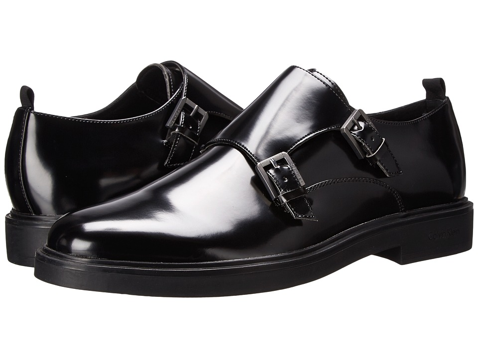 Calvin Klein - Damire (Black Box Smooth) Men's Monkstrap Shoes