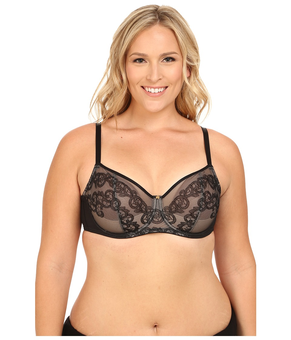 Natori - True Decadence Full Figure Cut Sew Underwire Bra 734097 (Black/Caf ) Women's Bra