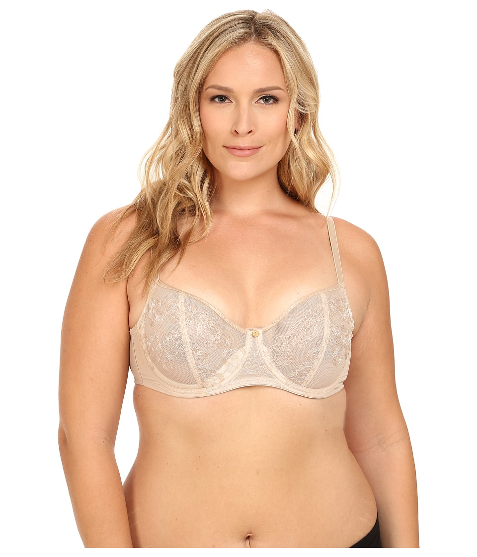 Natori - True Decadence Full Figure Cut Sew Underwire Bra 734097 (Cafe/Ivory) Women's Bra