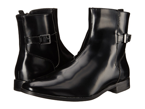 Calvin Klein - Tyson (Black Box Smooth) Men's Zip Boots