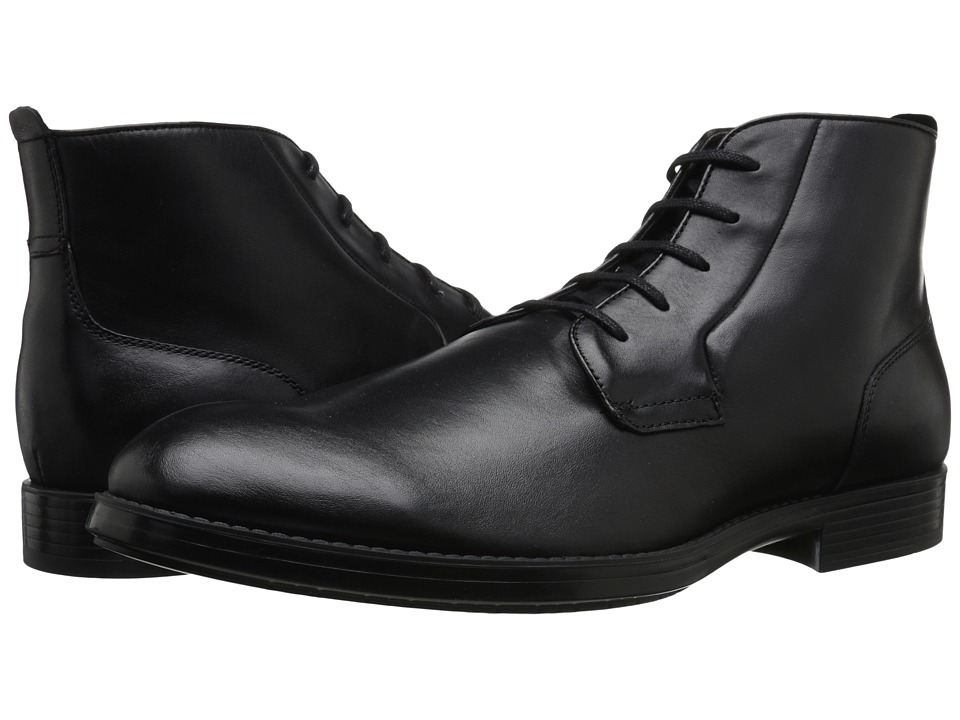 Calvin Klein - Harding (Black Leather) Men's Dress Lace-up Boots