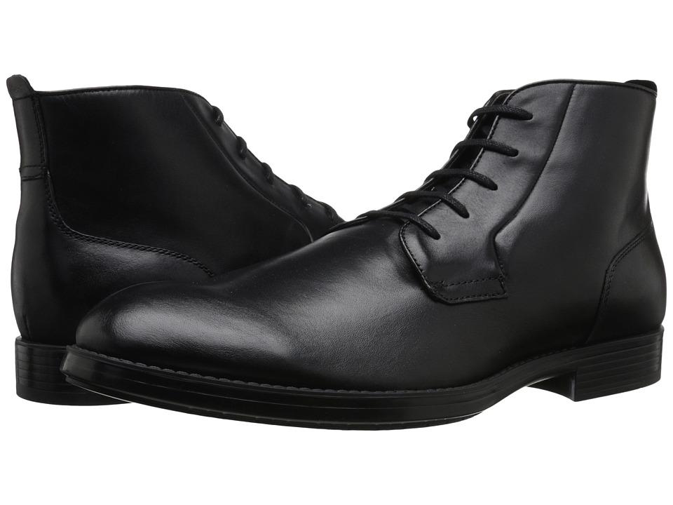 Mens Calvin Klein Harding Boots Dark Brown Leather NOQ49663
