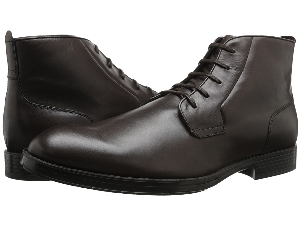 Calvin Klein - Harding (Dark Brown Leather) Men's Dress Lace-up Boots
