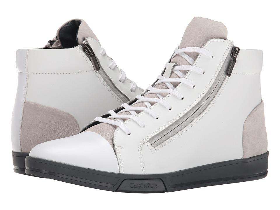 Calvin Klein Berke (White/Steel Action/Suede) Men