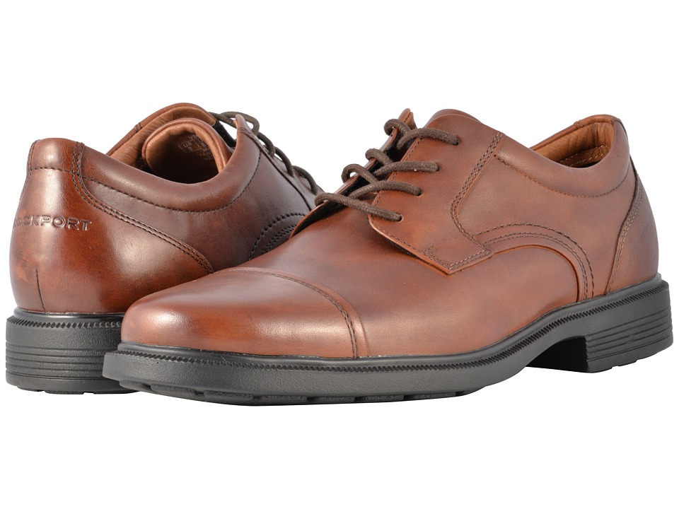 Rockport - Dressports Luxe Cap Toe Ox (New Brown) Men's Lace Up Cap Toe Shoes