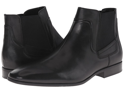 Calvin Klein - Clarke (Black Leather) Men's Pull-on Boots