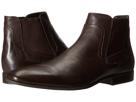 Calvin Klein - Clarke (Dark Brown Leather) Men's Pull-on Boots