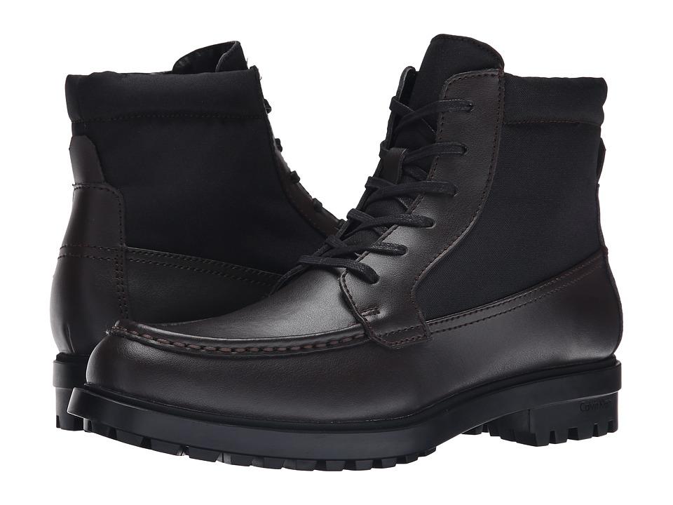 Calvin Klein - Garry (Dark Brown/Black Leather/Nylon) Men