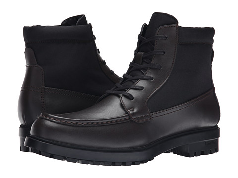 Calvin Klein - Garry (Dark Brown/Black Leather/Nylon) Men's Lace-up Boots