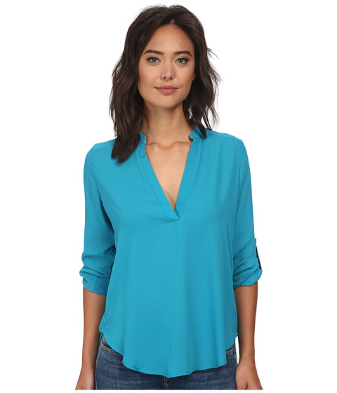 Brigitte Bailey - Channing V-Neck Blouse (Turquoise) Women