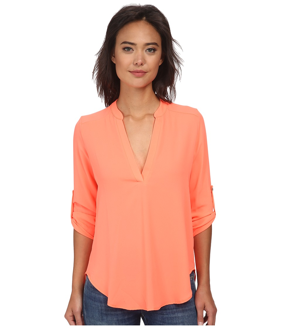 Brigitte Bailey - Channing V-Neck Blouse (Bright Pink) Women
