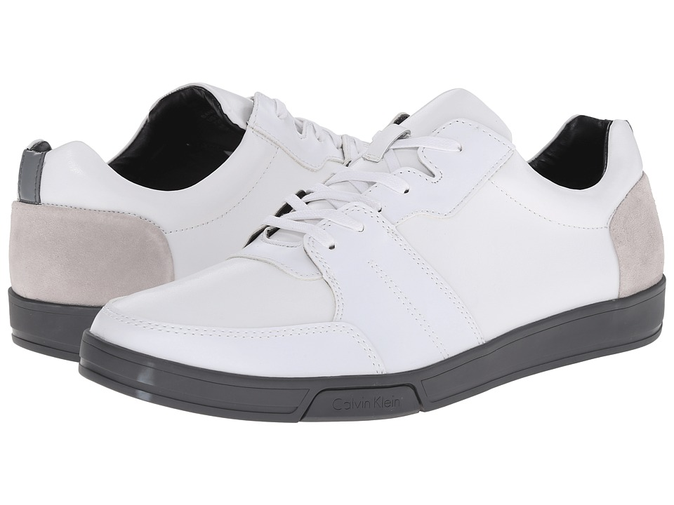 Calvin Klein - Bane (White/Steel Action/Suede) Men