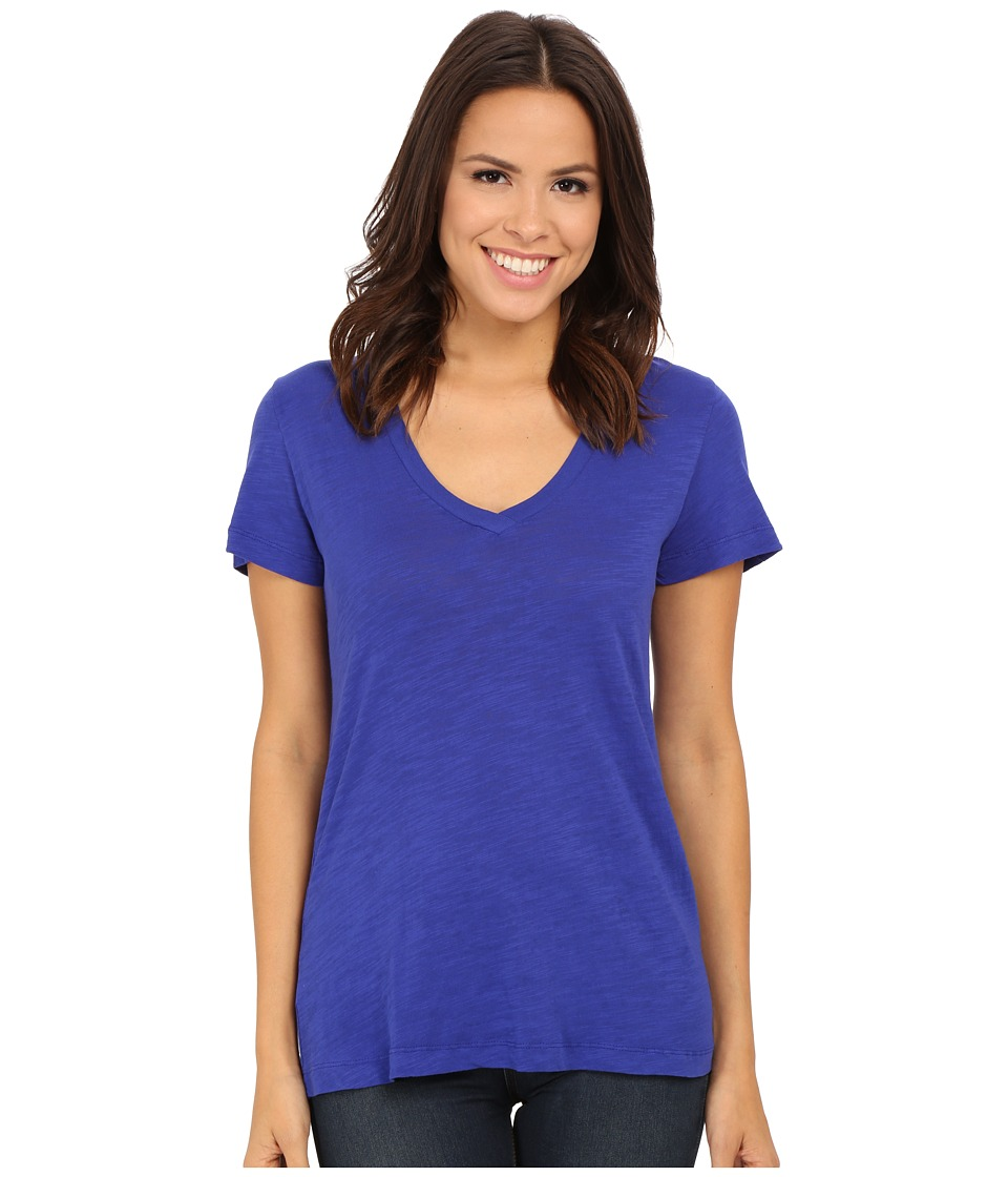 Mod-o-doc - Slub Jersey Short Sleeve V-Neck Tee (Deep Violet) Women's Short Sleeve Pullover