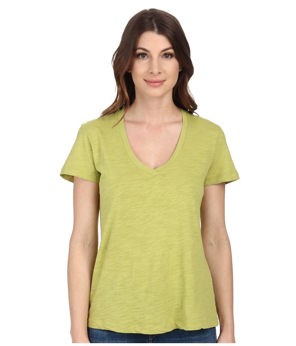 Mod-o-doc - Slub Jersey Short Sleeve V-Neck Tee (Limeade) Women